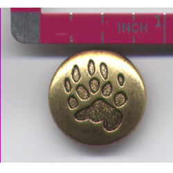 Bear Paw Button